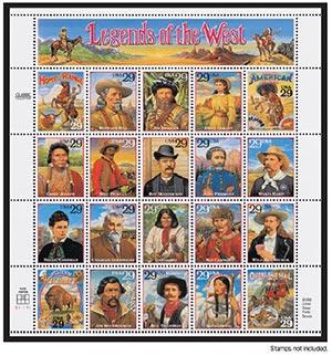 Scott Mounts 190 x 199mm (7.48 x 7.83') Legends of the West, Civil War, Comics, Jazz  4 pack