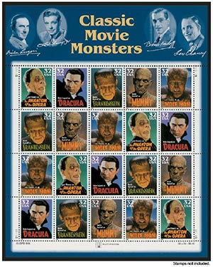 "Scott Mounts 186 x 230mm (7.32 x 9.06"") Classic Movie Monsters  3 pack"