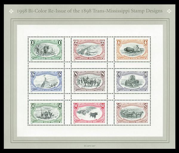 "Scott Mount 187 x 160mm (7.36 x 6.3"") Trans-Mississippi Sheet  4 pack"