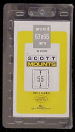 "Scott Mount 57 x 55 (2.24 x 2.17"") Regular Issue Plate Block  25 pack"