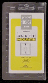 "Scott Mount 105 x 57mm (4.13 x 2.24"") Giori Press Standard Commemorative  20 pack"