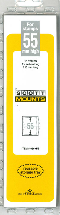 "Scott Mount 215 x 55mm (8.46 x 2.17"")  US Century of Progress  15 pack"