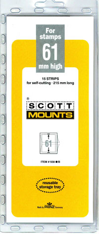 "Scott Mount 215 x 61mm (8.46 x 2.4"") US Blocks, Israel Tabs  15 pack"
