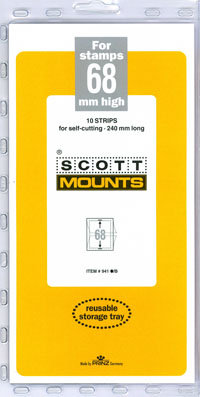 "Scott Mount 240 x 68mm (9.45 x 2.68"") US Farley Gutter Pair and Souvenir Sheet  10 pack"