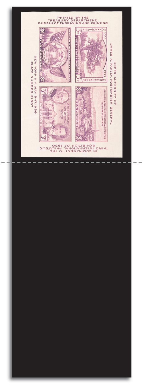 "Scott Mount 240 x 74mm (9.45 x 2.91"") US TIPEX Souvenir Sheet  10 pack"