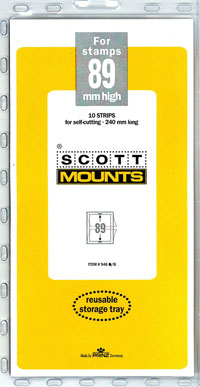 "Scott Mount 240 x 89mm (9.45 x 3.5"") Postal Card  10 pack"
