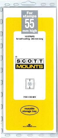 "Scott Mount 265 x 55mm (10.43 x 2.17"") U.S. Regular Plate Block or Strip of 20  10 pack"