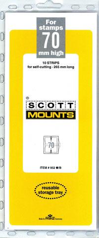 "Scott Mount 265 x 70mm ( 10.43 x 2.76"") U.S. Jumbo Commemorative Plate Block  10 pack"