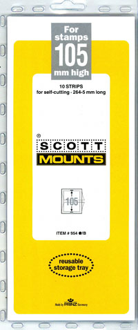 "Scott Mount 265 x 105mm (10.43 x 4.13"") US Standard Semi-Jumbo Commemorative Plate Number Strip  10 pack"
