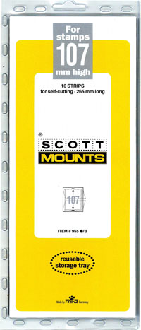 "Scott Mount 265 x 107mm (10.43 x 4.21"")  U.S.Standard Semi-Jumbo Commemorative Plate Number Strip w/wide margin  10 pack"