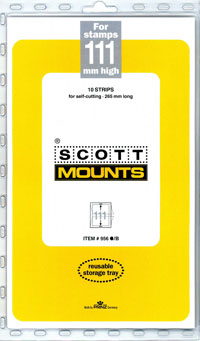 "Scott Mount 265 x 111mm ( 10.43 x 4.37"") U.S. Gravure-Intaglio Plate Number Strip  10 pack"