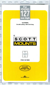 "Scott Mount 265 x 127mm (10.43 x 5"") U.S. Jumbo Commemorative Plate Number Strip, Package of 10"
