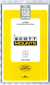 "Scott Mount 265 x 158mm (10.43 x 6.22"") U.S. Apollo-Soyuz Plate Number Strip  Package of 10"
