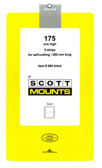 "Scott Mount 265 x 175mm (10.43 x 6.89"") Large Souvenir Sheet Package of 5"