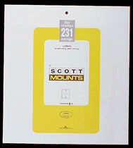 "Scott Mount 265 x 231mm (10.43 x 9.09"") U.S. Full Post Office Pane Regular & Commemorative  Package of 5"