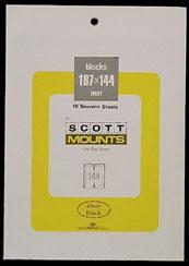 """Scott Mount 187 x 144mm (7.36 x 5.67"""") UN Flag Sheet  Package of 10"""