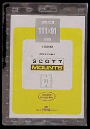 """Scott Mount 111 x 91mm (4.37 x 3.58"""") Columbian Souvenir Sheet  Package of 6"""