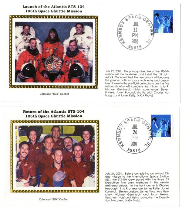 STS-104 Launch and Return Covers