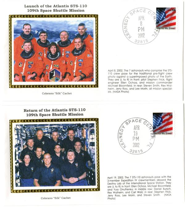 STS-110 Launch and Return Covers
