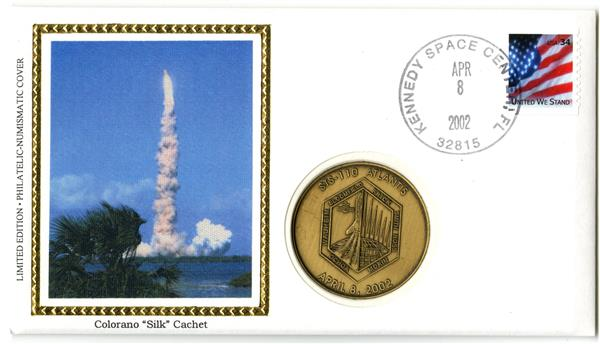 STS-110 Medallic Cover