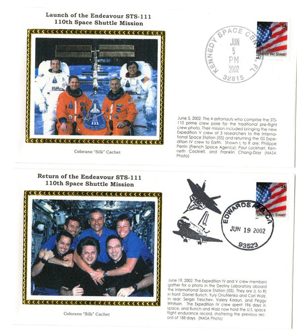 STS-111 Launch and Return Covers
