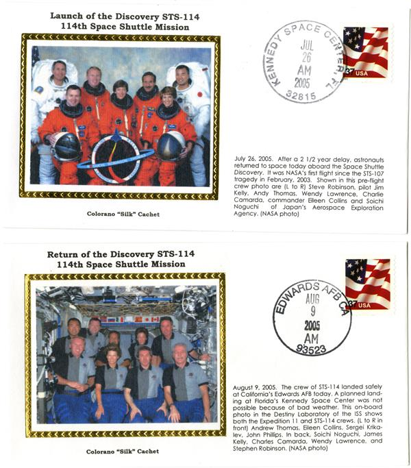 STS-114 Launch and Return Covers