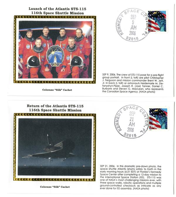 STS-115 Launch and Return Covers