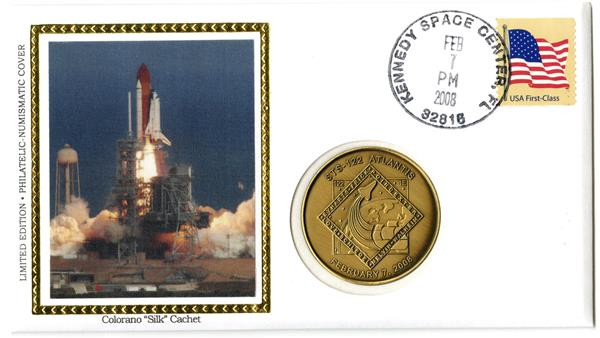 STS-122 MEDALLIC COVER