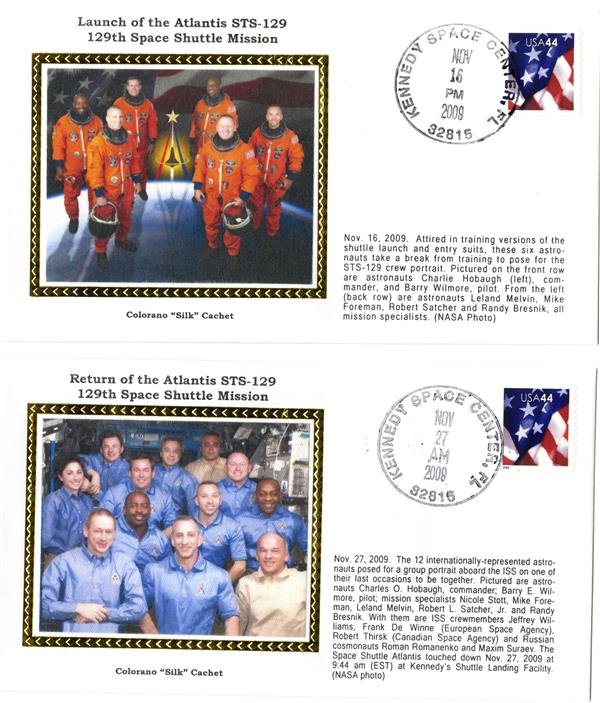 STS-129 Launch and Return Covers