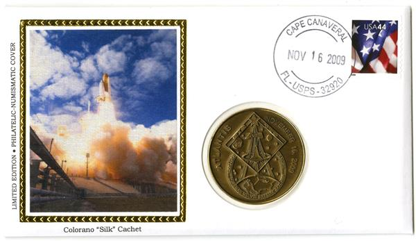 STS-129 Medallic Cover