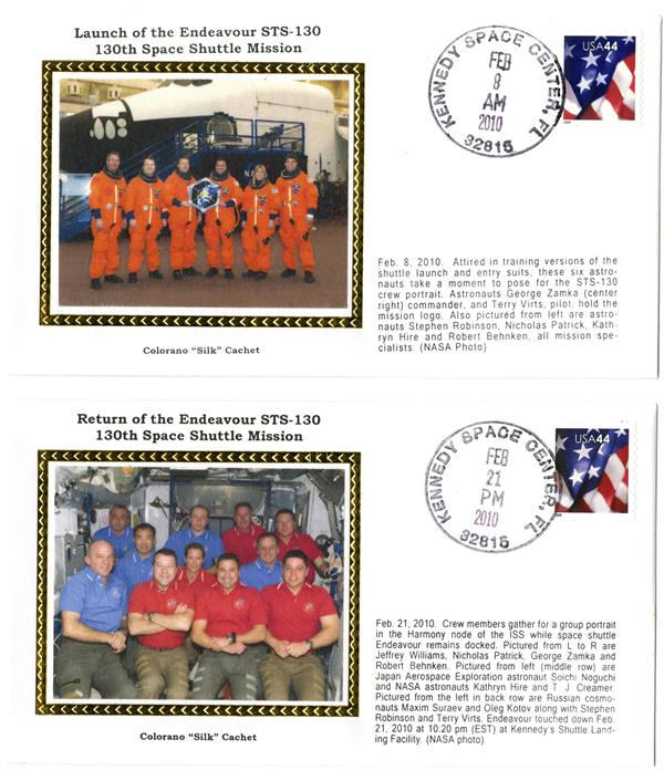 STS-130 Launch and Return Covers
