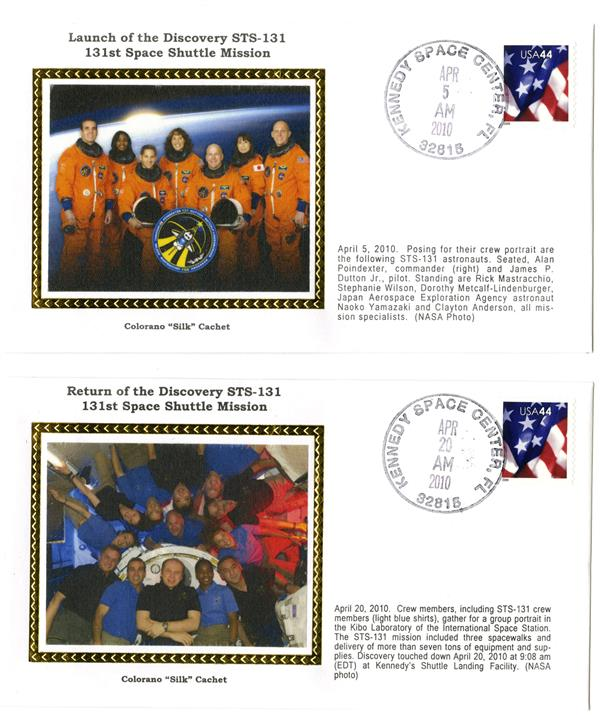 STS-131 Launch and Return Covers