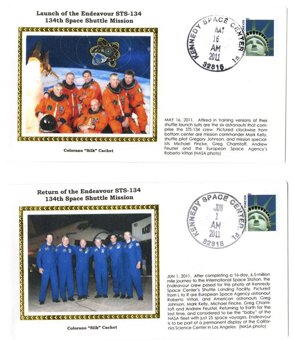 STS-134 Launch and Return Covers