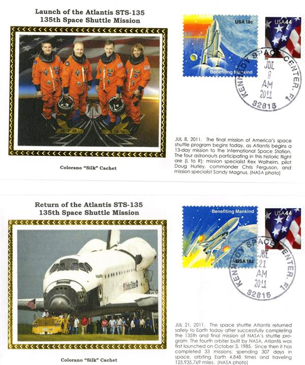STS-135 Launch and Return Covers