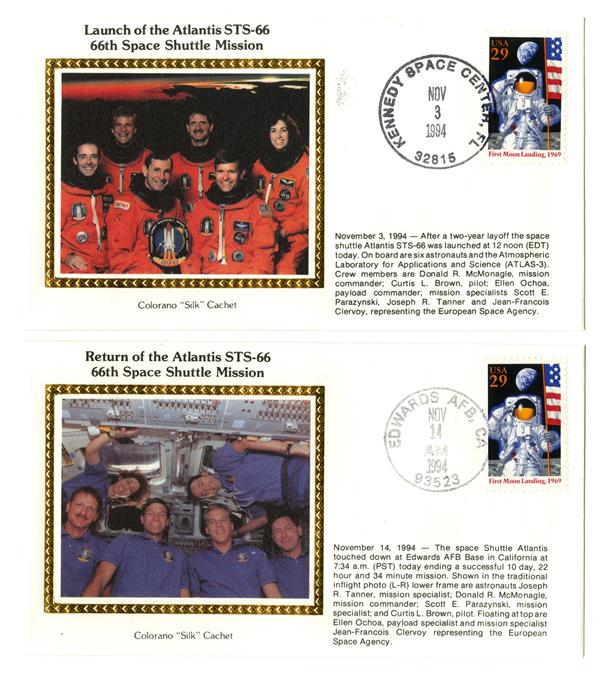 STS-66 Launch and Return Covers