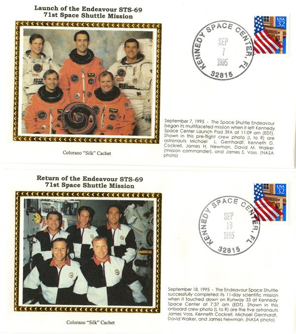 STS-69 Launch and Return Covers