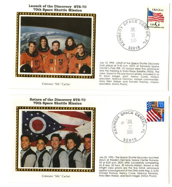 STS-70 Launch and Return Covers