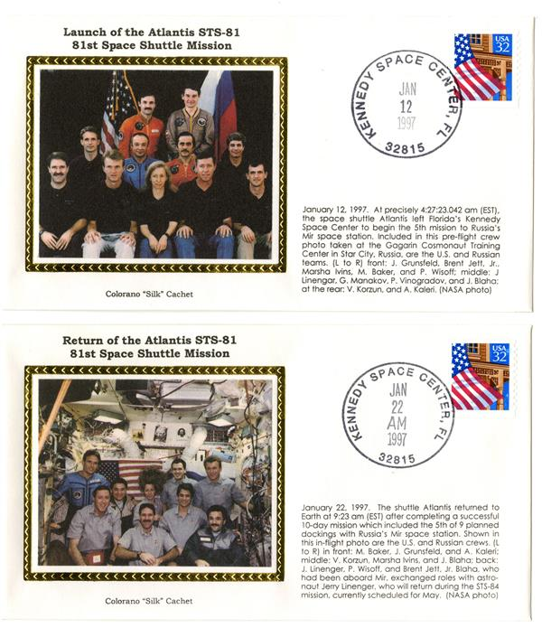 STS-81 Launch and Return Covers