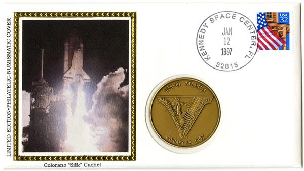 STS-81 Medallic Cover