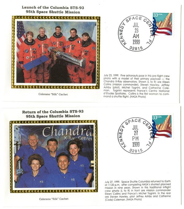 STS-93 Launch and Return Covers