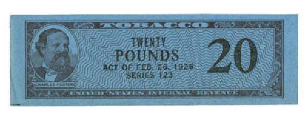 1953, 20lb Tobacco, Series 123