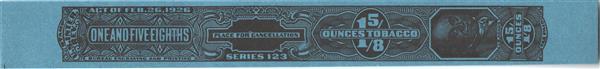 1953, 1 5/8oz Tobacco Strip, Series 123