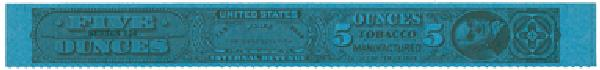 1954, 5oz Tobacco Strip, Series 124