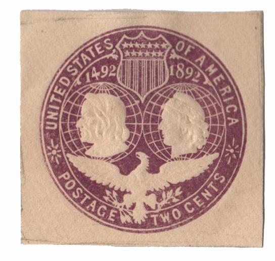 1893 2c Violet, Stamped Envelope