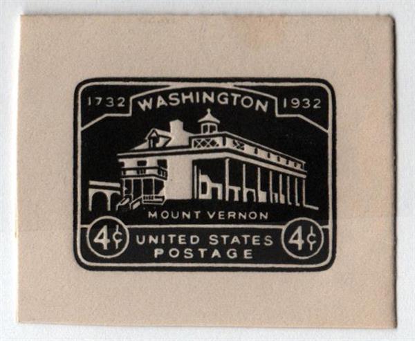1932 4c Washington Bicentennial,black