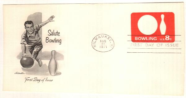 8c 1971 rose red/bowling