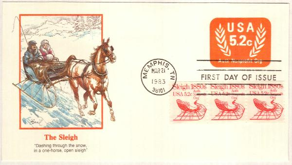 1983 5.2c USA Stamped Envelope
