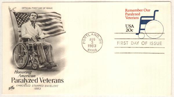 1983 20c Wheelchair Stamped Envelope