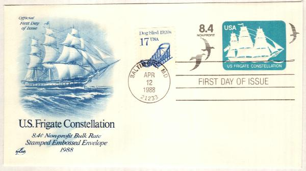 1988 8.4c US Frigate Constellation Env.