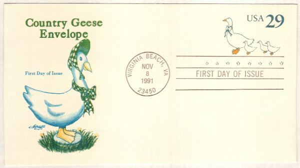 1991 Postal S. Country Geese